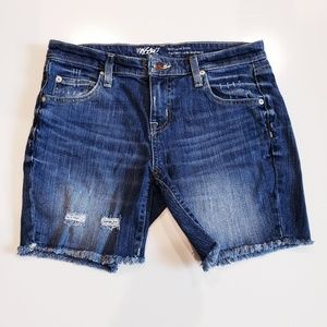 Mossimo Women's Distressed Cropped Jean Shorts 28